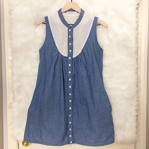 minkpink chambray embroidered dress